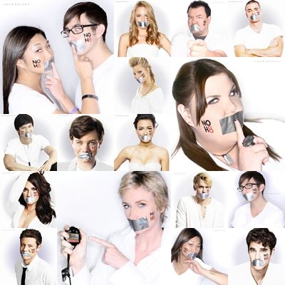 Cast of Glee, with one of my favorite anti-bullying campaign