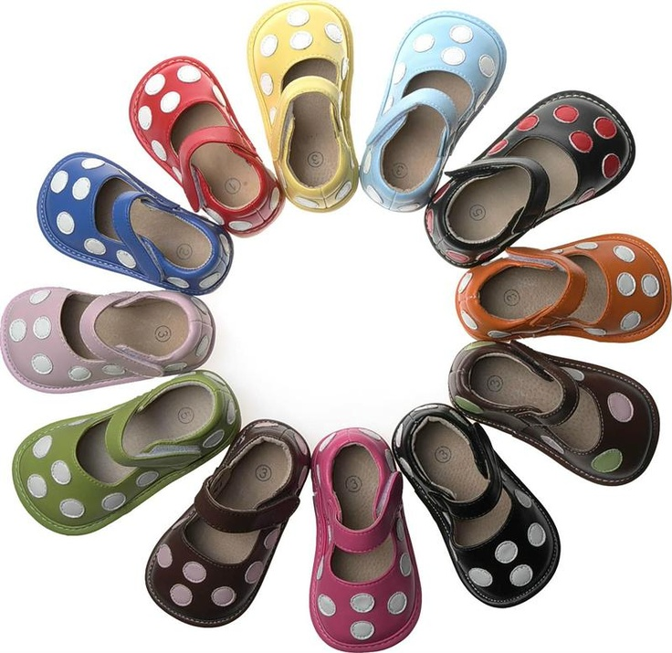 polka Dot squeaky shoes!  Awesome prices too!!!