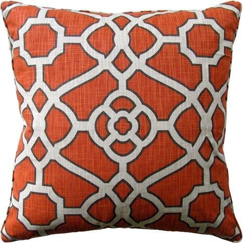 Pavillion Mandarin Throw Pillow | Designer Throw Pillows Add The Perfect  Pop Of Color To An