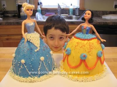 Homemade Disney Princess Doll Cakes Snow White and Cinderella: My 3 year old son is totally in love with Snow White. He is obsessed with her. His birthday is on January 29 and his older sister's birthday is only one