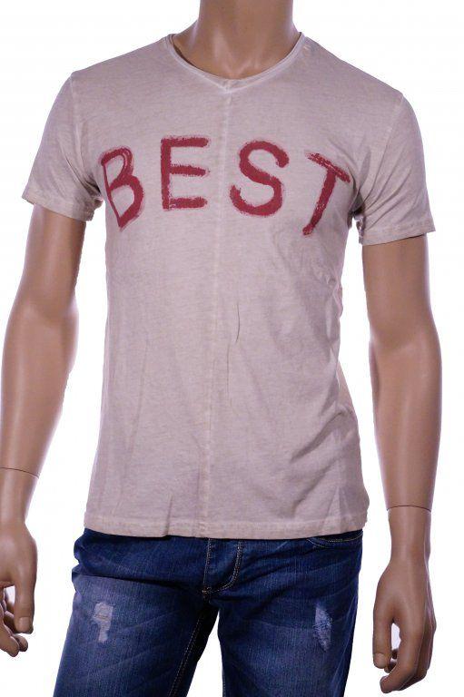 T-SHIRT 'BEST' BEIGE