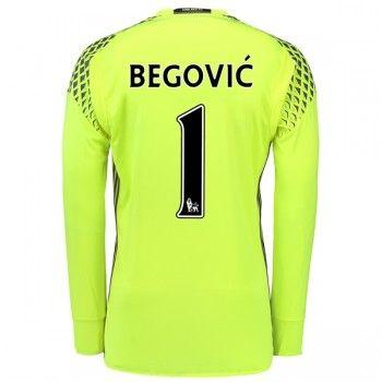 Chelsea 16-17 Målvakt Asmir Begovic 1 Hemmatröja Långärmad  #Fotbollströjor