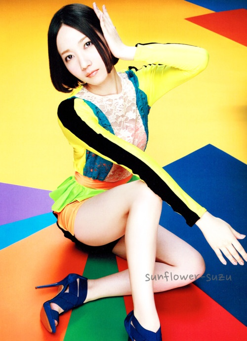 """""""sunflower-suzu: Perfume JPN Tour Pamphlet Photo - Nocchi *scan by sunflower-suzu (do not edit or remove watermark! do not repost anywhere without credit!) """""""