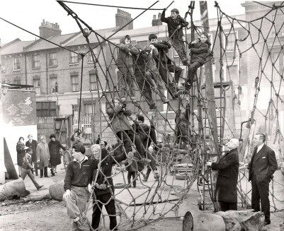 Photo of vintage play equipment.