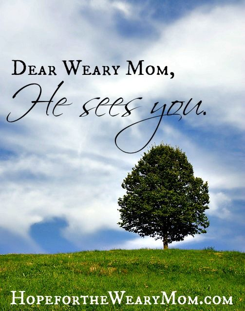 """As we tuck our weary bones in bed each night, let us rest in the fact — no matter what the day brought … grace, it's all about grace — He's smiling down, tucking us in, and saying """"Well done today weary momma. Well done."""""""