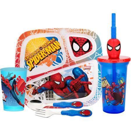 Zak! 5-Piece Spider-Man Mealtime Set
