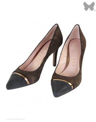 Lola Cruz Court Heel Shoes - Bronze