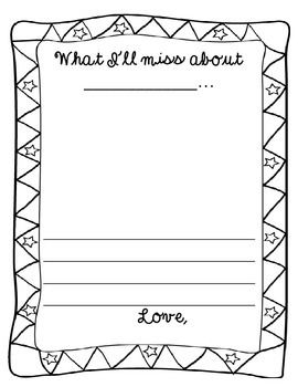 Use this writing page as a class gift to a student/ practicum teacher on their last day. Turn into a class book for great memories!