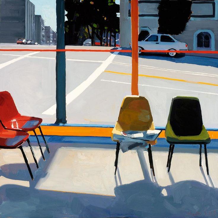 arttester:  Dmitri Cavander (American).  Laundromat waiting room. September, 2007 24″ × 24″