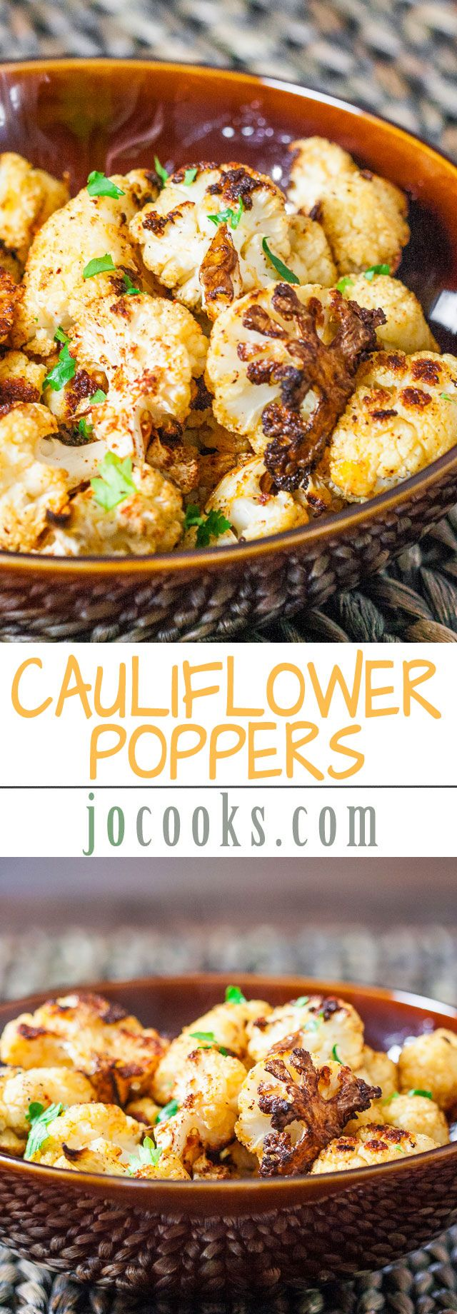Cauliflower Poppers - I could get down with these plus I can eat them for 21 day fix