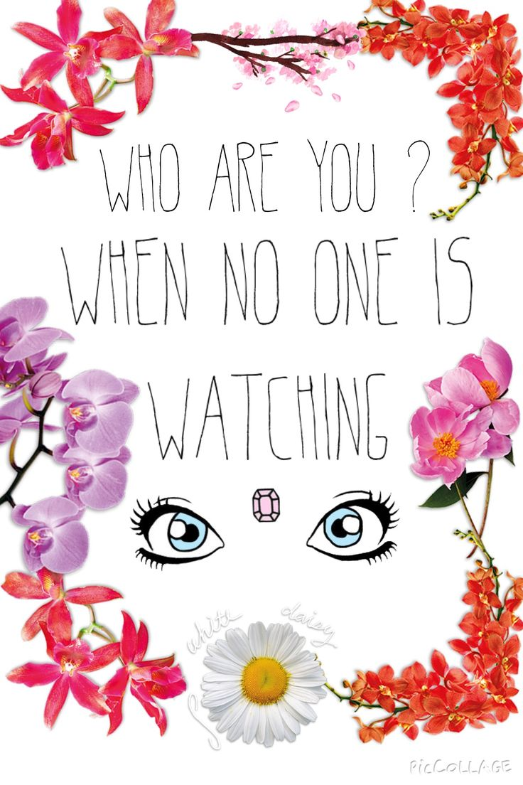 """""""Who Are You? When no one is watching"""""""