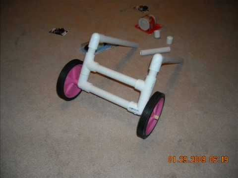 How to build a cart for dogs with back end issues