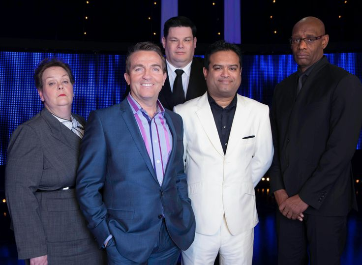 The Chase Bradley Walsh with Mark Labbeth, Shaun Wallace, Paul Sinha & Anne Hergerty.