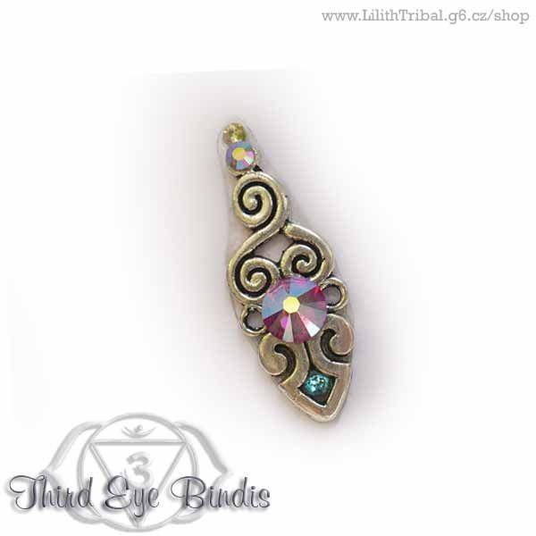 Aztec Sign – tribal bindi – pink