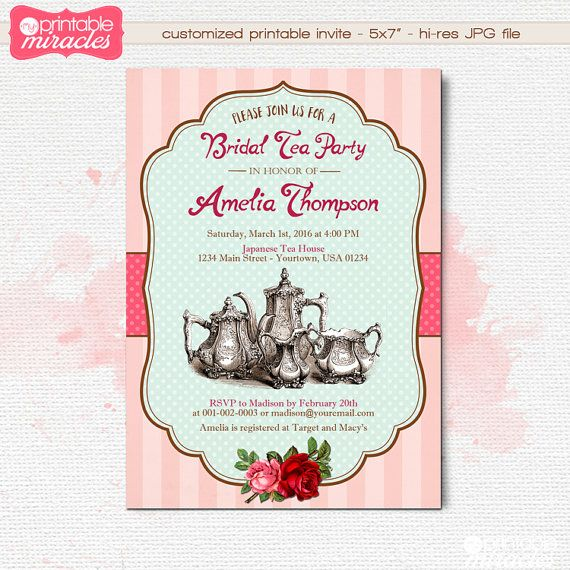 The  Best Bridal Tea Invitations Ideas On   Tea Party