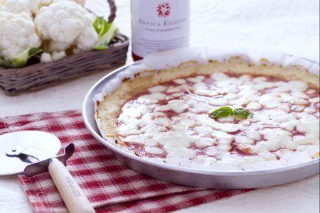 Finta pizza al cavolfiore