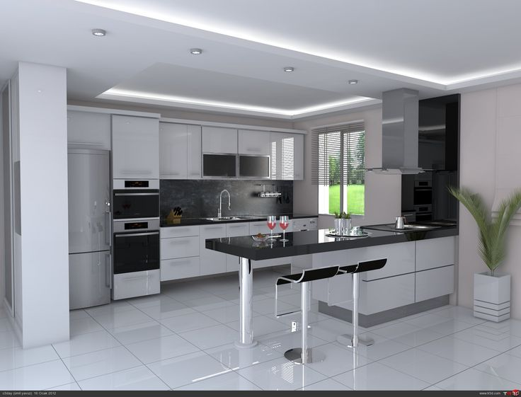 Luz leed techo cocina sectores