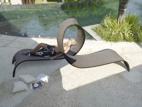 Sonnenliege Rattan-für zwei-modernes Möbeldesign