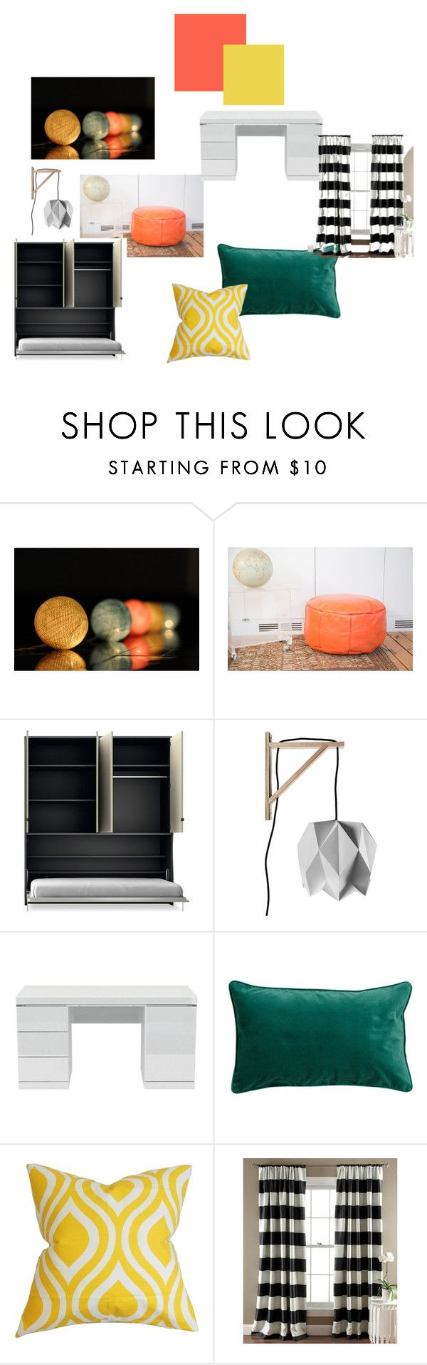 """""""koncepcja 2"""" by magdalena-grycz on Polyvore featuring interior, interiors, interior design, dom, home decor, interior decorating, Along Came the Fold, H&M, The Pillow Collection i Lush Décor"""