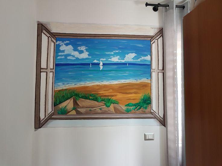 vista sulla Spiaggia... Murales