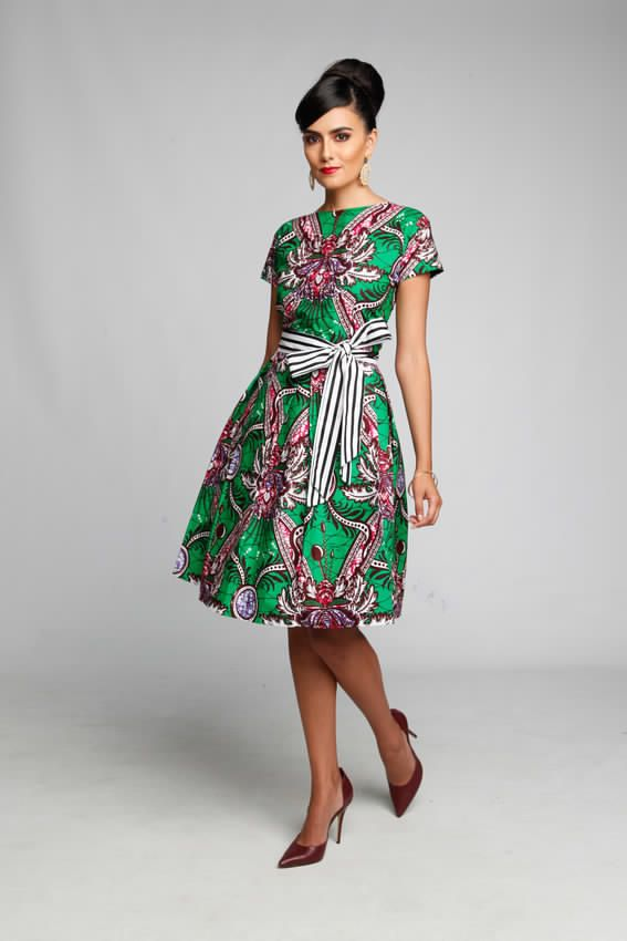 Robe chic en pagne woodin