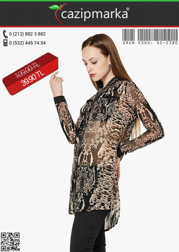 ★Yeni Sezon✔ Tunik modelleri yeni sezona göz kamaştıran renk ve şıklığı ile giriyor. Yakası Boncuklu Leopar Desenli Şifon #Tunik - 39,90 TL' ye Cazipmarka.com' da! ✔ #YeniSezon #KapıdaÖdeme #İndirim #Kampanya #elbise #moda #sezonu #başladı #yepyeniürünler #büyükbeden #elbiseler #cıvılcıvılrenkler Cazipmarka.com'da