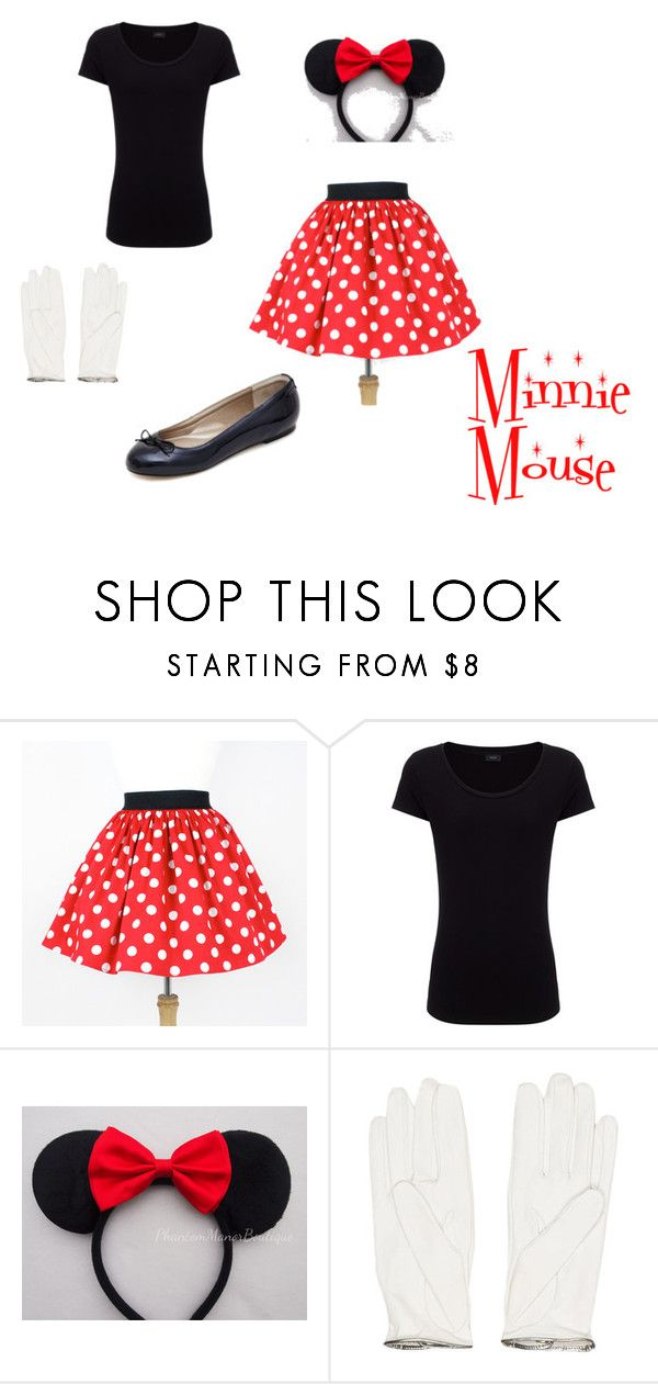 """Minnie Mouse Costume"" by nosoykawaii on Polyvore featuring Joseph, Disney and Chanel"