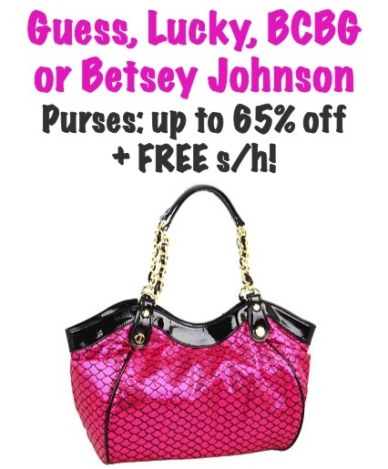 Guess, Lucky, BCBG and Betsey Johnson Purse Sale!  {love!}