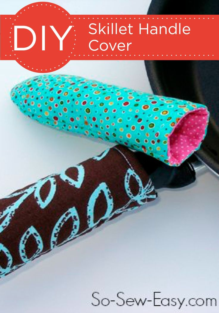 These DIY Skillet Handle Covers are a stylish way to protect your hands from hot handles while you're cooking. Add your own personalized touch to this creative DIY project by choosing a fun pattern or colored fabric!