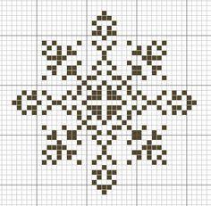 SNOWFLAKE PATTERN - cross stitch (chart only)