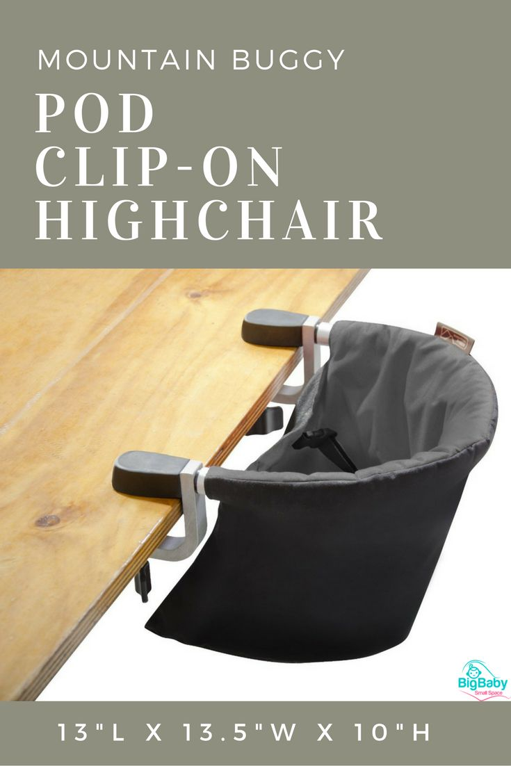 Mountain Buggy Pod Clip-On Highchair isready to use at your convenience…