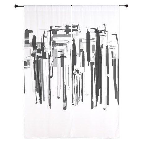 Abstract City Curtains on CafePress.com