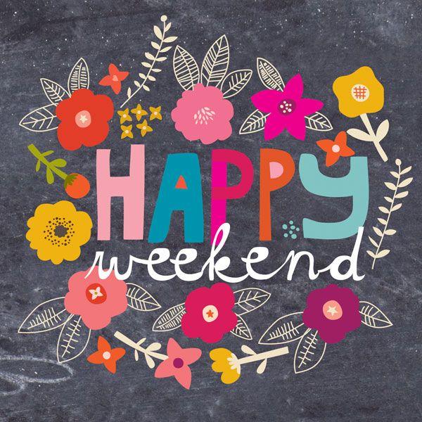 Oh Sweet Joy!'s cute colorful 'Happy Weekend' art. TGIF, Pinterest pals!