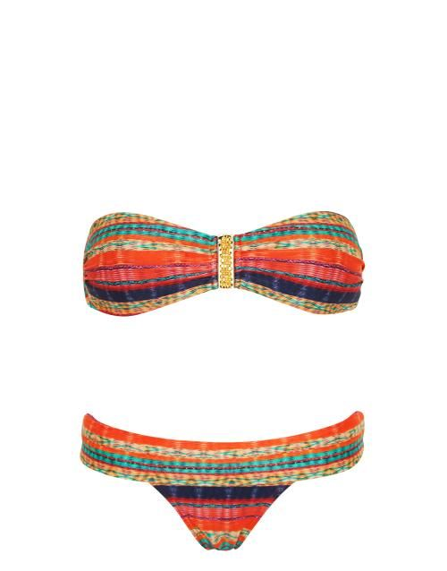 Vix Swimwear Portia Square Bandeau Bikini Set in Multi #SS14SWIM #VivaLaFiesta #figleaves: Bandeau Bikinis, Multi Ss14Swim, Ss14Swim Vivalafiesta, Squares Bandeau