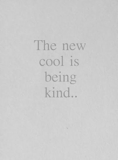 | Be kind. |