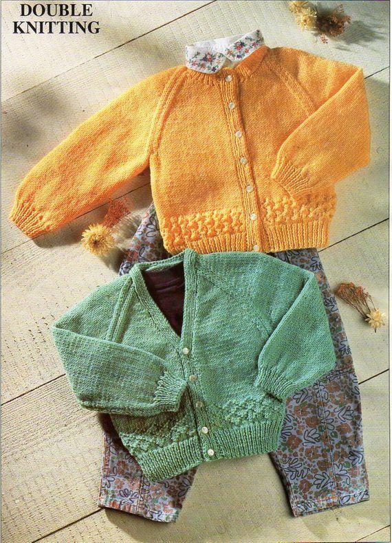 36331eae0481 B8636 baby knitting pattern pdf baby cardigan baby jacket v neck ...