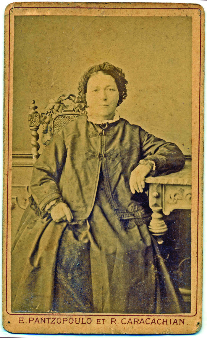 A christian lady from Galata. c 1870.