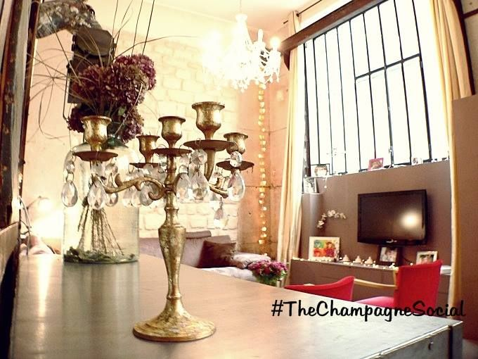 #TheChampagneSocial #Paris #Party  @Habitat Parisien 's Apartment!