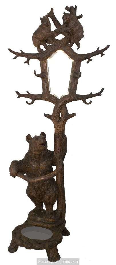 Black Forest Three Bear Hall Tree Vintage Amp Antique