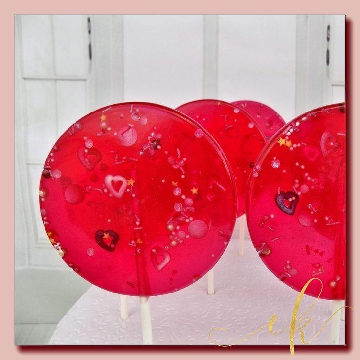 Handmade lollipops with sprinkles!