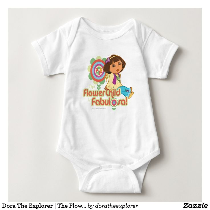 Dora The Explorer | The Flower Child Is Fabulosa! T-Shirt. Producto disponible en tienda Zazzle. Vestuario, moda. Product available in Zazzle store. Fashion wardrobe. Regalos, Gifts. Trendy tshirt. #camiseta #tshirt