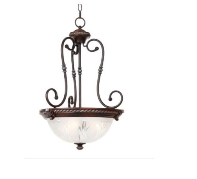 Hampton Bay Bercello Estates 3 Light Volterra Bronze Bowl