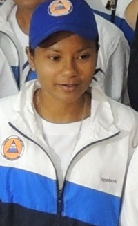 """(posted Aug. 3, 1:25 p.m.)- LONDON—Before the Nicaraguan team flew out of Managua to for London two weeks ago, Ingrid Narvaez spoke frankly about her goal in the Olympic Games.    """"What do I expect from London? To improve my record. This is the b"""