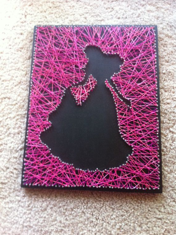 Pink Princess String Art by SparkleYourHome on Etsy