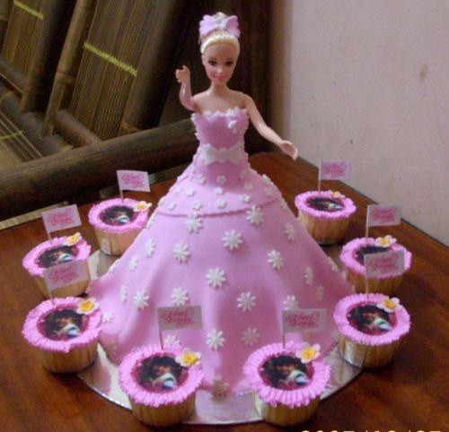 Best Barbie Birthday Cakes Images On Pinterest Birthday Cakes - Birthday cake doll princess