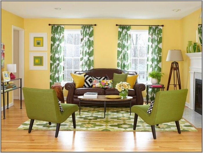Yellow Walls Red Curtains Curtains Home Design Ideas Brown Living Room Decor Yellow Decor Living Room Yellow Living Room