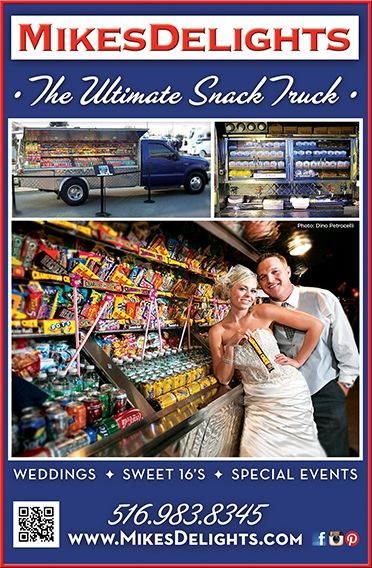 Mikes Delights Snack Truck is great addition to a wedding. #snacktrucks #snack #trucks #weddingsnacks