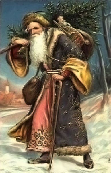 Christmas Santa Claus Vintage Cards for Xmas and Holidays,  Vintage Santa Claus