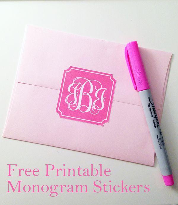 25 best ideas about free printable monogram on pinterest free