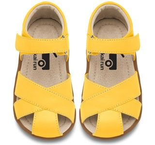 See Kai Run *SHAUNA* Yellow Criss Cross Sandal